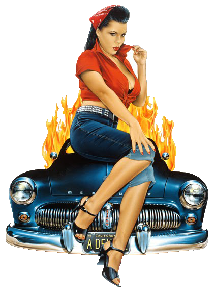 pinup girl car